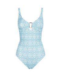Melissa Odabash - Blue Tuscany Underwired Swimsuit - Lyst