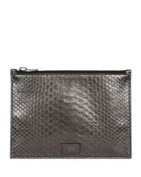 Tom Ford Metallic Small Python Pouch