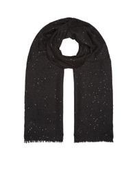 Brunello Cucinelli - Gray Sequin Embellished Scarf - Lyst