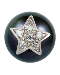 Carolina Bucci - White Superstellar Pearl Stud With Pav Star - Lyst