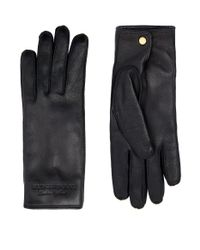 Burberry - Black Cashmere Lined Leather Gloves - Lyst