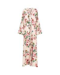 Dolce & Gabbana - Pink Floral Kimono Gown - Lyst