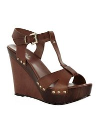 Carvela Kurt Geiger | Brown Katey Leather Wedge Sandal | Lyst