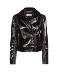ESCADA Black Patent Biker Jacket
