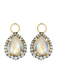 Annoushka | Metallic Moonstone Earring Drops | Lyst