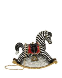Judith Leiber - Multicolor Zebra Rocking Horse Clutch - Lyst