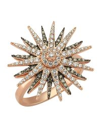 Bee Goddess - Brown Star Light Diamond Ring - Lyst