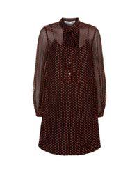 McQ Alexander McQueen | Black Pin Tuck Sheer Hem Midi Dress | Lyst