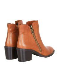 Carvela Kurt Geiger - Brown Skim Leather Ankle Boots - Lyst