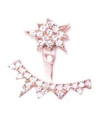 Diane Kordas - Multicolor Explosion Diamond Rose Gold Ear Jacket - Lyst