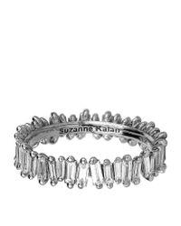 Suzanne Kalan - Metallic White Gold Baguette Diamond Ring - Lyst