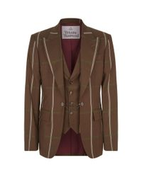 Vivienne Westwood Brown Tailored Jacket With All Over Check for men