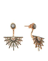 Bee Goddess - Metallic Star Light Diamond Ear Jackets - Lyst