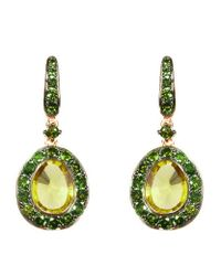 Annoushka | Green Dusty Diamonds Olive Quartz Earrings | Lyst