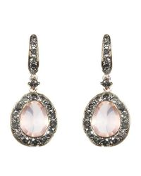 Annoushka - Pink Dusty Diamonds Rose Quartz Earrings - Lyst
