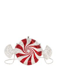 Judith Leiber | Red Crystal Candy Clutch | Lyst