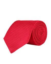 Turnbull & Asser | Red Diagonal Herringbone Silk Tie for Men | Lyst