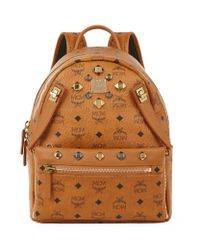 MCM | Brown Small Dual Stark Backpack | Lyst