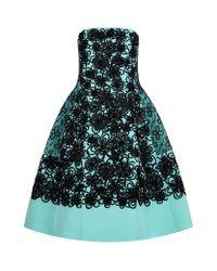 Oscar de la Renta | Blue Lace Appliquã© Dress | Lyst