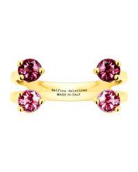 Delfina Delettrez - Pink 4 Dots Ring - Lyst