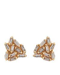 Suzanne Kalan | Metallic Gold Diamond Firework Earrings | Lyst