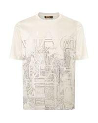 Zilli - White City Print T-shirt for Men - Lyst