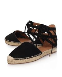 Aquazzura Black Belgravia Lace-Up Suede Espadrilles