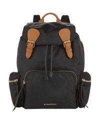 Burberry - Black Large Logo Backpack - Lyst