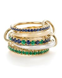 Spinelli Kilcollin   Metallic Atlas Sapphire Emerald Ring   Lyst