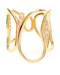 Fernando Jorge | Metallic Fluid Diamond Chain Gold Ring | Lyst