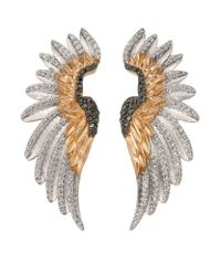 Bee Goddess - Metallic Diamond Wing Ear Cuffs - Lyst