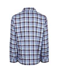 Harrods - Blue Tartan Flannel Pyjamas for Men - Lyst