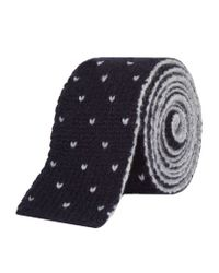 Brunello Cucinelli - Blue Knitted Cashmere Tie for Men - Lyst