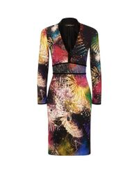 Roberto Cavalli - Multicolor Firework Print Dress - Lyst