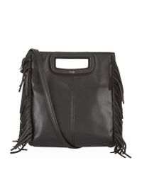 Maje | Black The Leather M Bag | Lyst