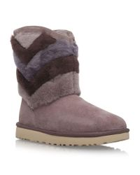UGG | Brown Ugg 'tania' Genuine Shearling Boot | Lyst