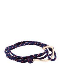 Miansai | Blue Rope Wrap Hook Bracelet | Lyst