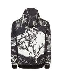 Dolce & Gabbana - Black Western Print Jacquard Hooded Sweatshirt for Men - Lyst