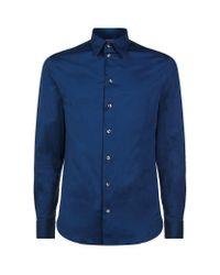 Armani   Blue Cotton Jersey Shirt for Men   Lyst