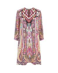 Etro | Multicolor Paisley Silk Tunic Dress | Lyst
