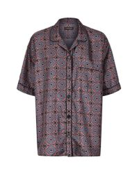 Burberry | Multicolor Geo Tile Silk Pyjama Shirt | Lyst