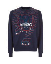KENZO Blue Crawling Tiger Sweatshirt for men
