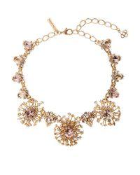 Oscar de la Renta - Metallic Tiered Crystal Necklace - Lyst