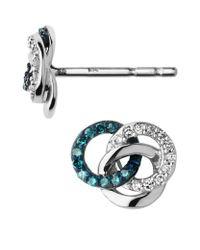 Links of London - Multicolor Treasured Logo Stud Earrings - Lyst