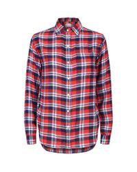 Denim & Supply Ralph Lauren   Red Plaid Boyfriend Shirt   Lyst