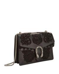 Gucci - Black Large Embroidered Dionysus Shoulder Bag - Lyst