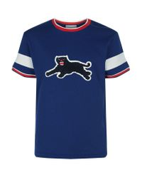 1faa5049 Gucci Panther T-shirt in Blue for Men - Lyst