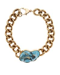 Balmain | Blue Turquoise Chain Choker Necklace | Lyst