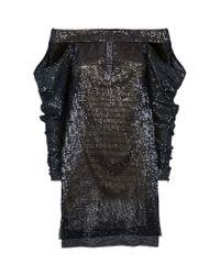 La Mania | Black Sequin Embellished Dress | Lyst