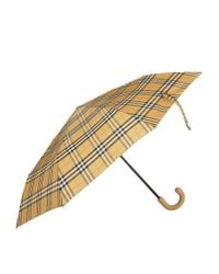 Burberry - Yellow Leather Handle Umbrella - Lyst
